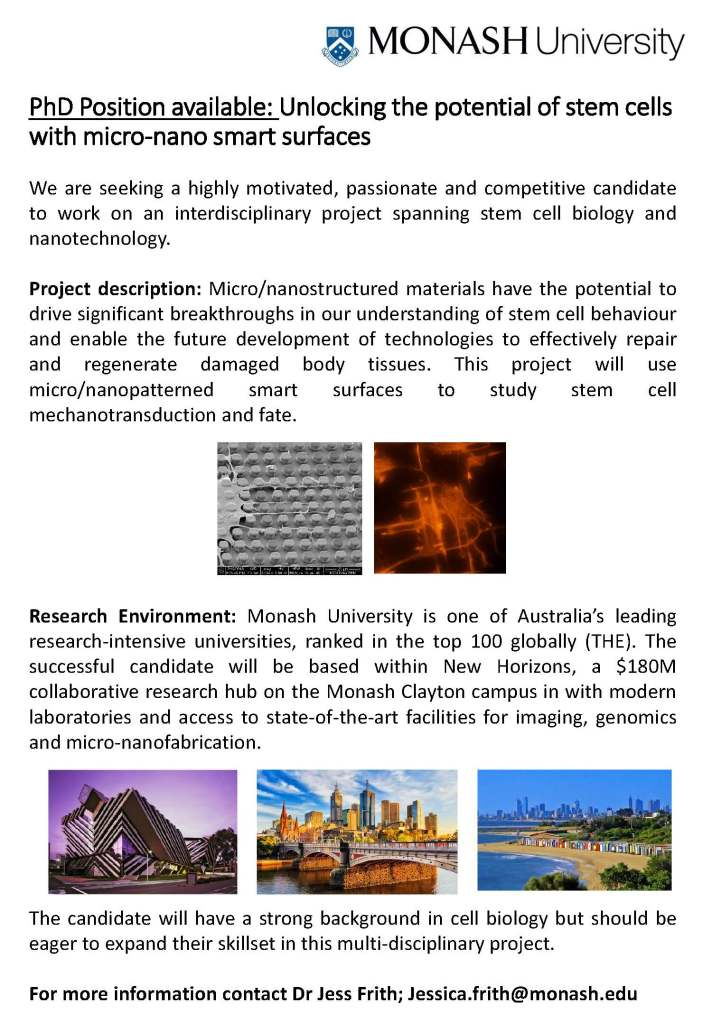 PhD advert_micro nano surfaces